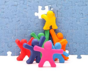 Puzzle Team - Konzept zusammenarbeit